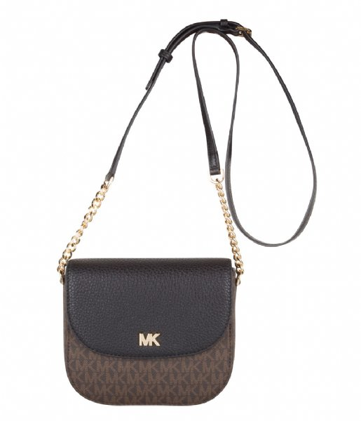 Half Dome Crossbody brown black & gold hardware Michael Kors